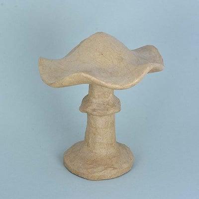 Фигура от папие маше, гъба, 18,5 x 18,5 x 20 cm