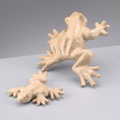 Фигура от папие маше, жаба, 15 x 13 x 3 cm