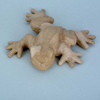 Фигура от папие маше, жаба, 25 x 20,5 x 5 cm