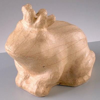 Фигура от папие маше, жабокът принц, 16 x 11,5 x 13 cm