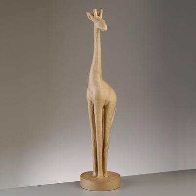 Фигура от папие маше, жираф, 62,5 x 12 cm