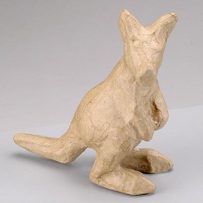 Фигура от папие маше, кенгуру, 10 x 4,5 x 11 cm