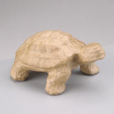 Фигура от папие маше, костенурка, 13,5 x 8 x 6 cm