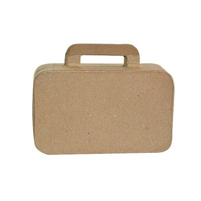 Фигура от папие маше, куфар, 16 х 12 х 5 см