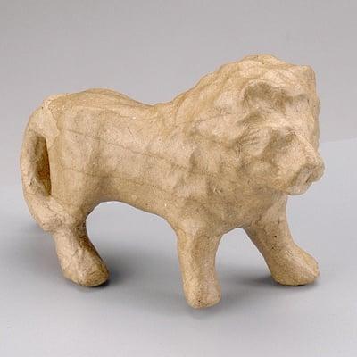 Фигура от папие маше, Лъв, 12,5 x 4 x 8,5 cm