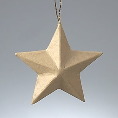 Фигура от папие маше, Орнамент-звезда, ф 13 cm