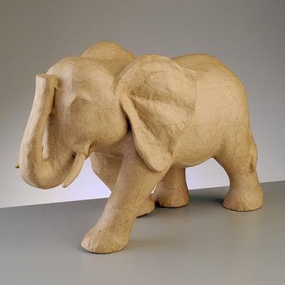 Фигура от папие маше, слон, 50 x 21 x 32,5 cm