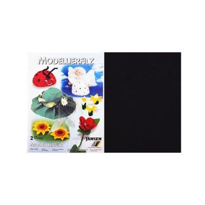 Филц моделиерски, 320 g/m2, 30 x 45 cm, 2л в пакет, черен