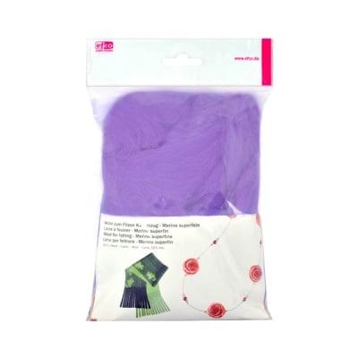 Филц от суперфино мерино, 50 g, лилав