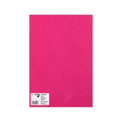 Филц текстилен, 3,5 mm, 30 x 45 cm, 1л в пакет, розов