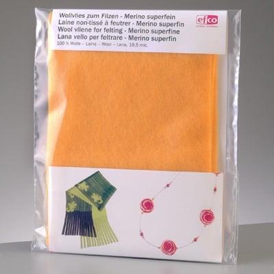 Филцов шал, жълт, размери 120 х 20 см
