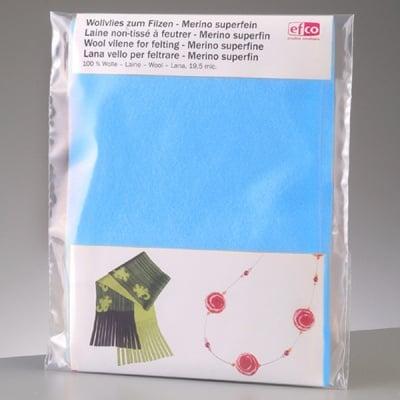 Филцов шал, светло син, размери 120 х 20 см