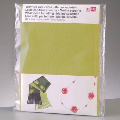 Филцов шал, светло зелен, размери 120 х 20 см