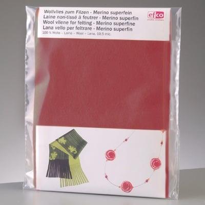 Филцов шал, тъмно червен, размери 120 х 20 см