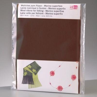 Филцов шал, тъмно кафяв, размери 120 х 20 см
