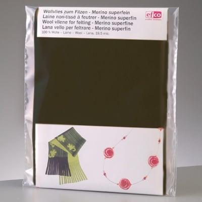 Филцов шал, тъмно зелен, размери 120 х 20 см