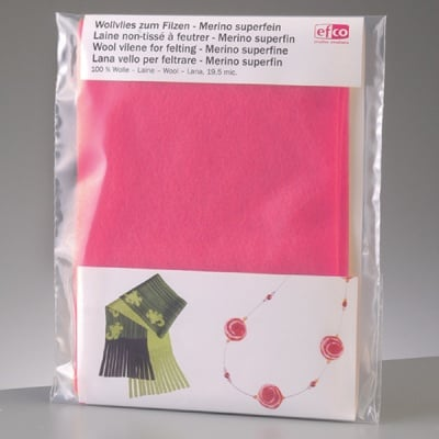 Филцов шал, ярко розов, размери 120 х 20 см