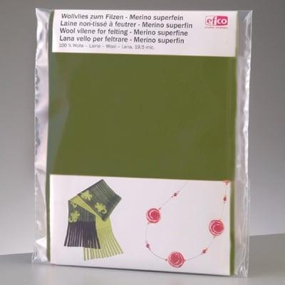 Филцов шал, зелен, размери 120 х 20 см