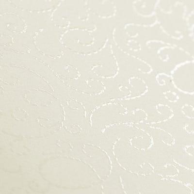 Фото картон с орнаментен лак, 220 g/m2, 47 x 69 cm, 1л, старинно бял