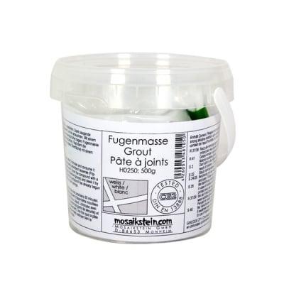 Фугираща смес за мозайка с кофичка, 500 g, бяло