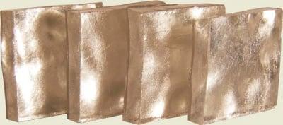 Мозаечна плочка White Gold, стъкло, 20 х 20 х 3 mm, 1 бр