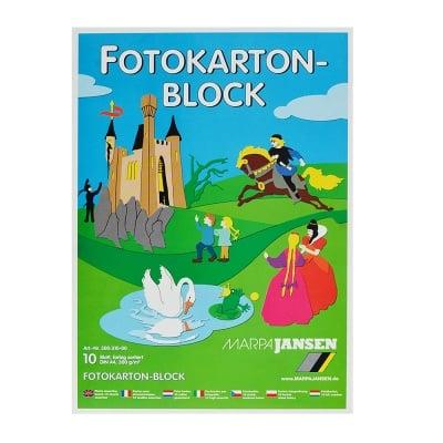 Блок фото картон, 300 g/m2, А4, 1 блок, 10 цвята