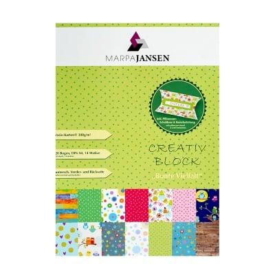 Блок 20л. варио картон микс от цветове,,300g/m2,А4