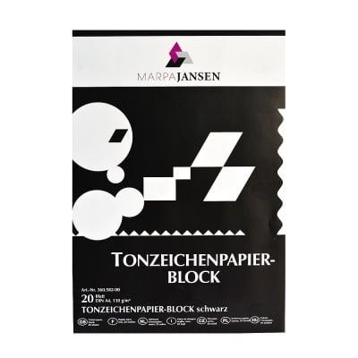 Блок 20л.цветен картон, 130 g/m2, А4, черен