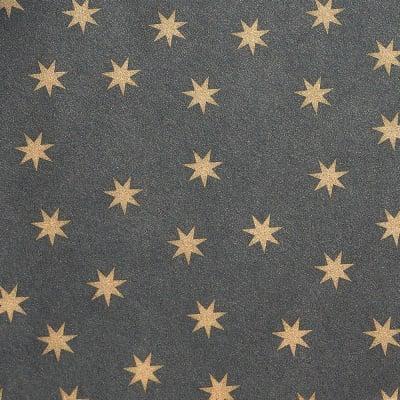 Цветна хартия, 130 g/m2, 50 x 69 cm, 1л,черна със златни звезди