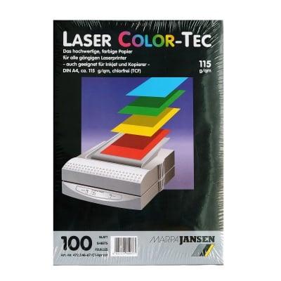 Хартия копирна Laser COLOR-TEC 115 g/m2, А4, 100л в пакет, кайсия