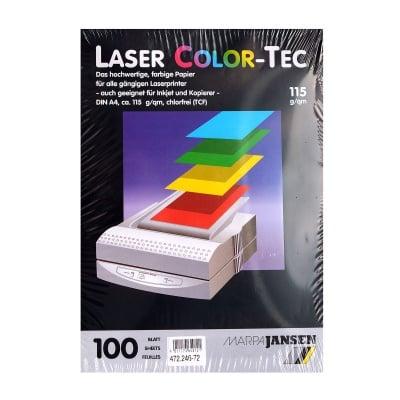 Хартия копирна Laser COLOR-TEC 115 g/m2, А4, 100л в пакет, бежова