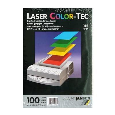 Хартия копирна Laser COLOR-TEC 115 g/m2, А4, 100л в пакет, кафява