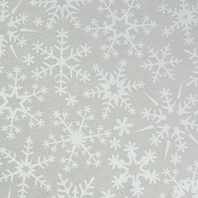 Хартия прозрачна твърда, 115 g/m2, 50 x 60 cm, 1л, Снежинки бели