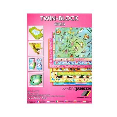 Блок 9л.прозрачна хартия/9л.цветна хартия, А4, Girls