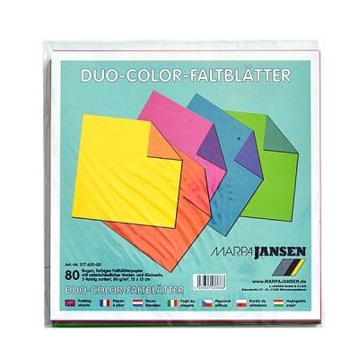 Блок двуцветна хартия, 80 g/m2, 15 x 15 cm, 80 л, 5 цвята