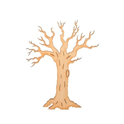 Деко фигурка зимно дърво без листа. дърво. 50 mm