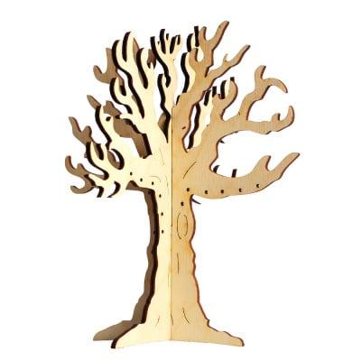 Деко фигурка дърво стойка за бижута, дърво,160 mm