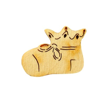 Деко фигурка бебешки обувки. дърво. 30 mm
