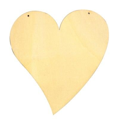 Деко фигурка сърце извито, дърво,150 mm