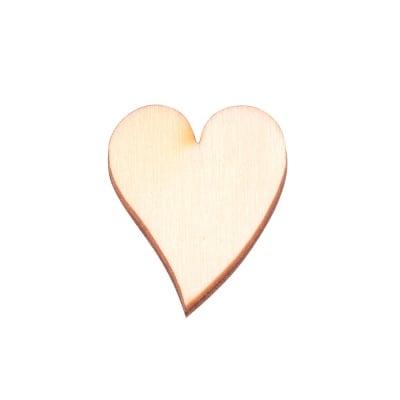 Деко фигурка сърце удължено,дърво ,16 mm