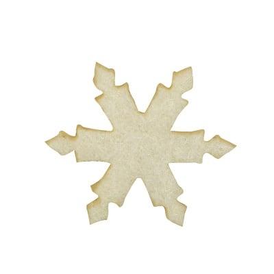 Деко фигурка снежинка, Filz, 20 mm, кремава