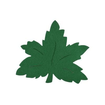 Деко фигурка лозов лист, Filz, 90 mm, тъмно зелен
