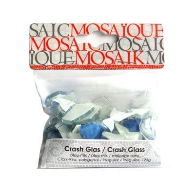 Мозаечна плочка Crash glass, стъкло, 1-3 cm, 50 бр., син микс