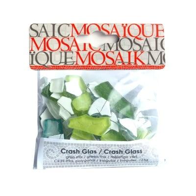 Мозаечна плочка Crash glass, стъкло, 1-3 cm, 50 бр., зелен микс