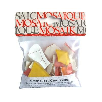 Мозаечна плочка Crash glass, стъкло, 1-3 cm, 50 бр., жълто-червен микс