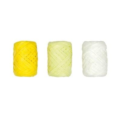 Хартиено лико, 5мм х 10 м, 3 броя,  жълт микс
