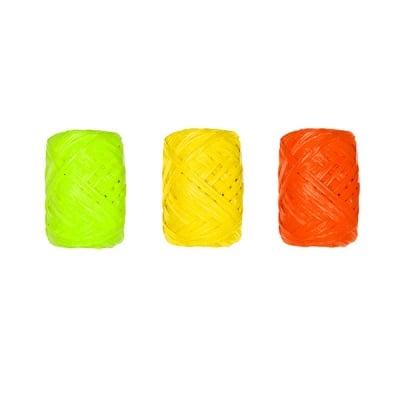 Хартиено лико, 5мм х 10 м, 3 броя,  оранжев микс