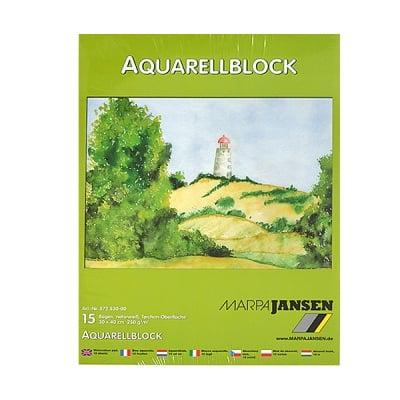 Хартия акварелна TORCHON, 250 g/m2, 30 x 40 cm, 15л в блок, бяла