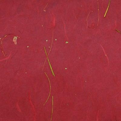 Хартия копринена с влакна, 35g/m2, 50x70cm, 1л, бордо златен ефект