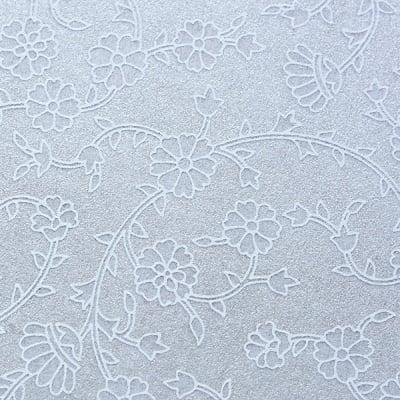 Хартия ръчна памучна, 50 g/m2, 50 x 70 cm, 1л, бял с релефни цветя